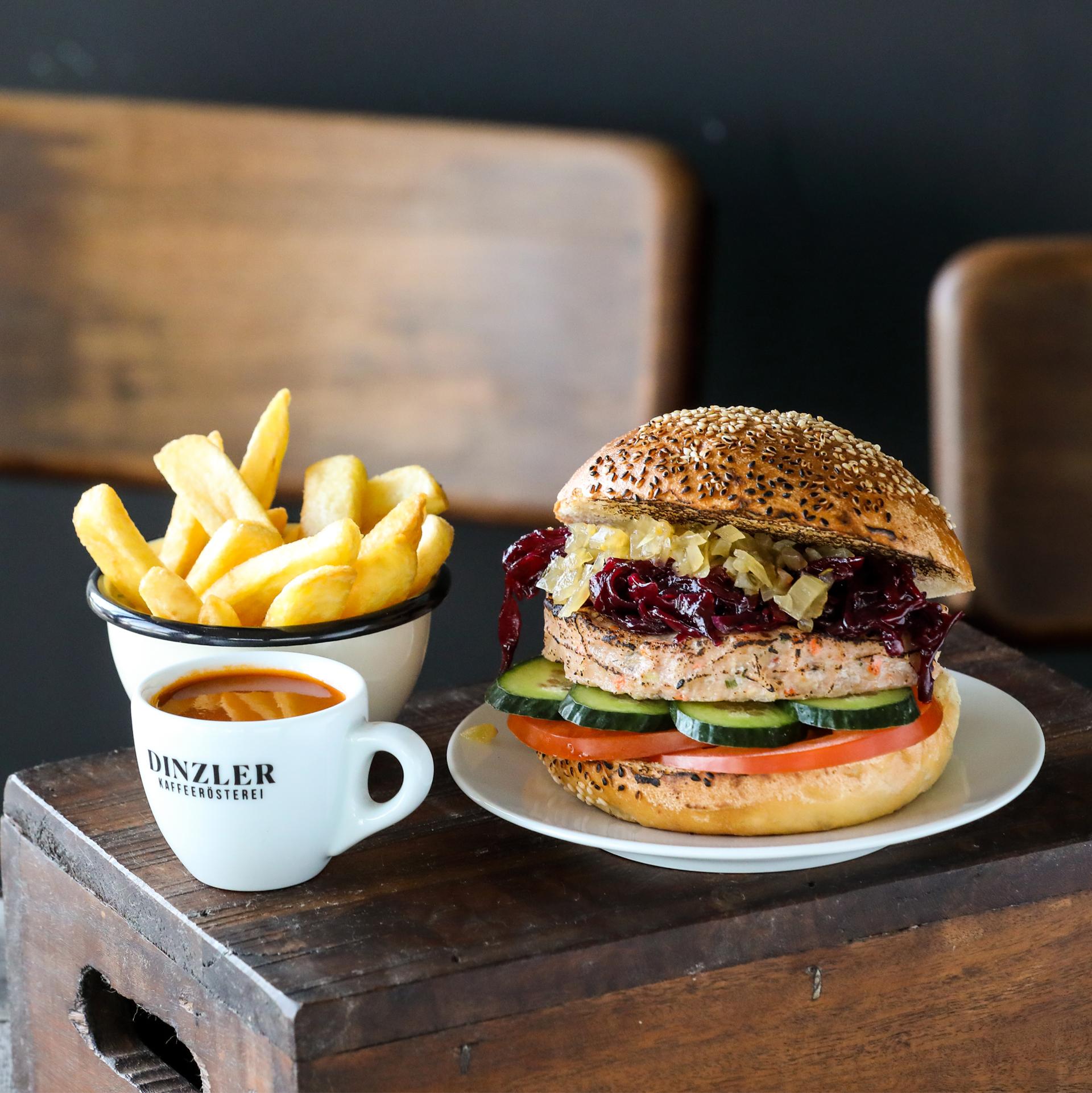 Produktbild DINZLER Halligalli Box Burger mit Fisch (für 1 Person)| DINZLER Kaffeerösterei