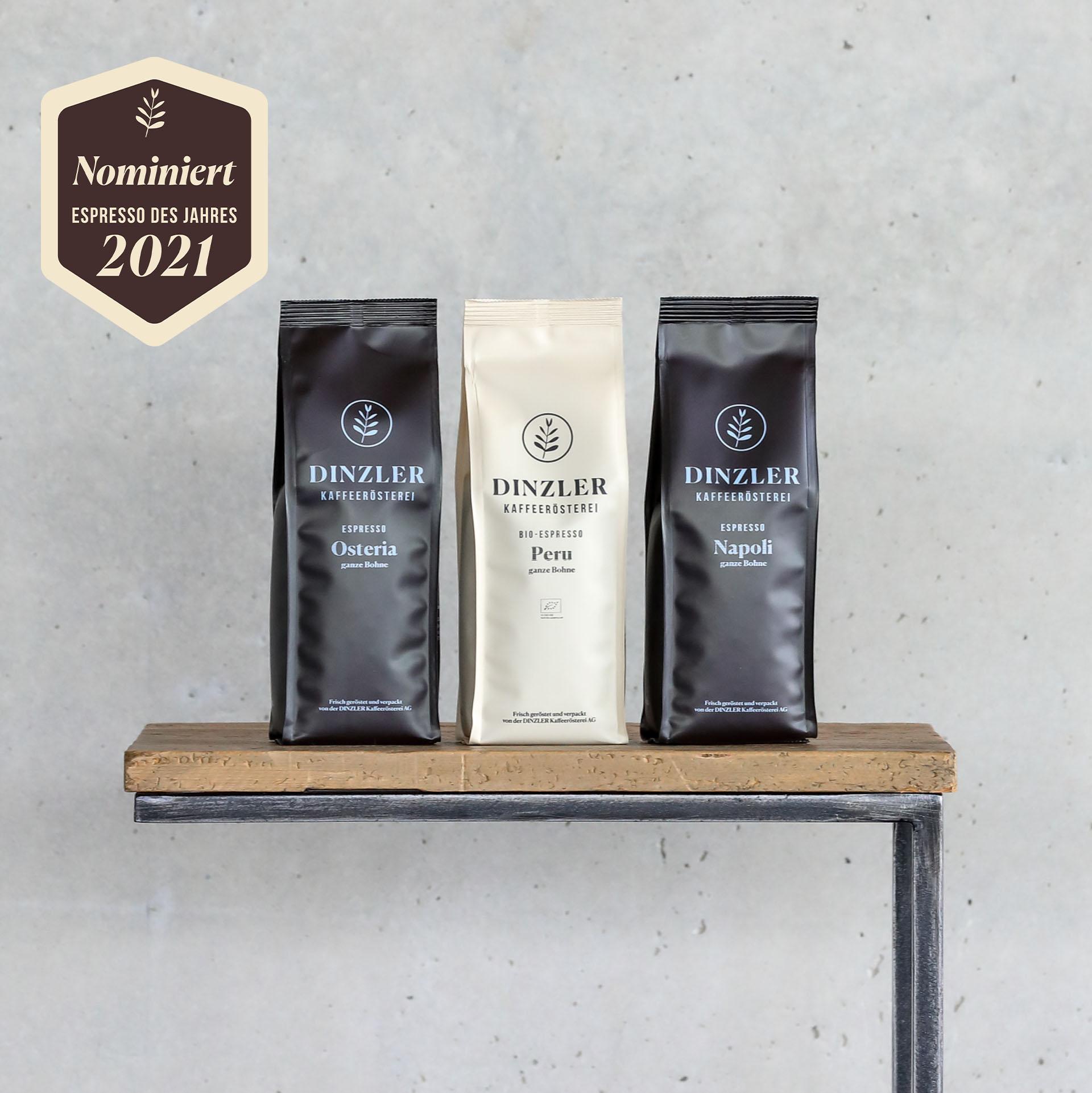 Produktbild Testpaket: DINZLER Espresso des Jahres 2021  DINZLER Kaffeerösterei