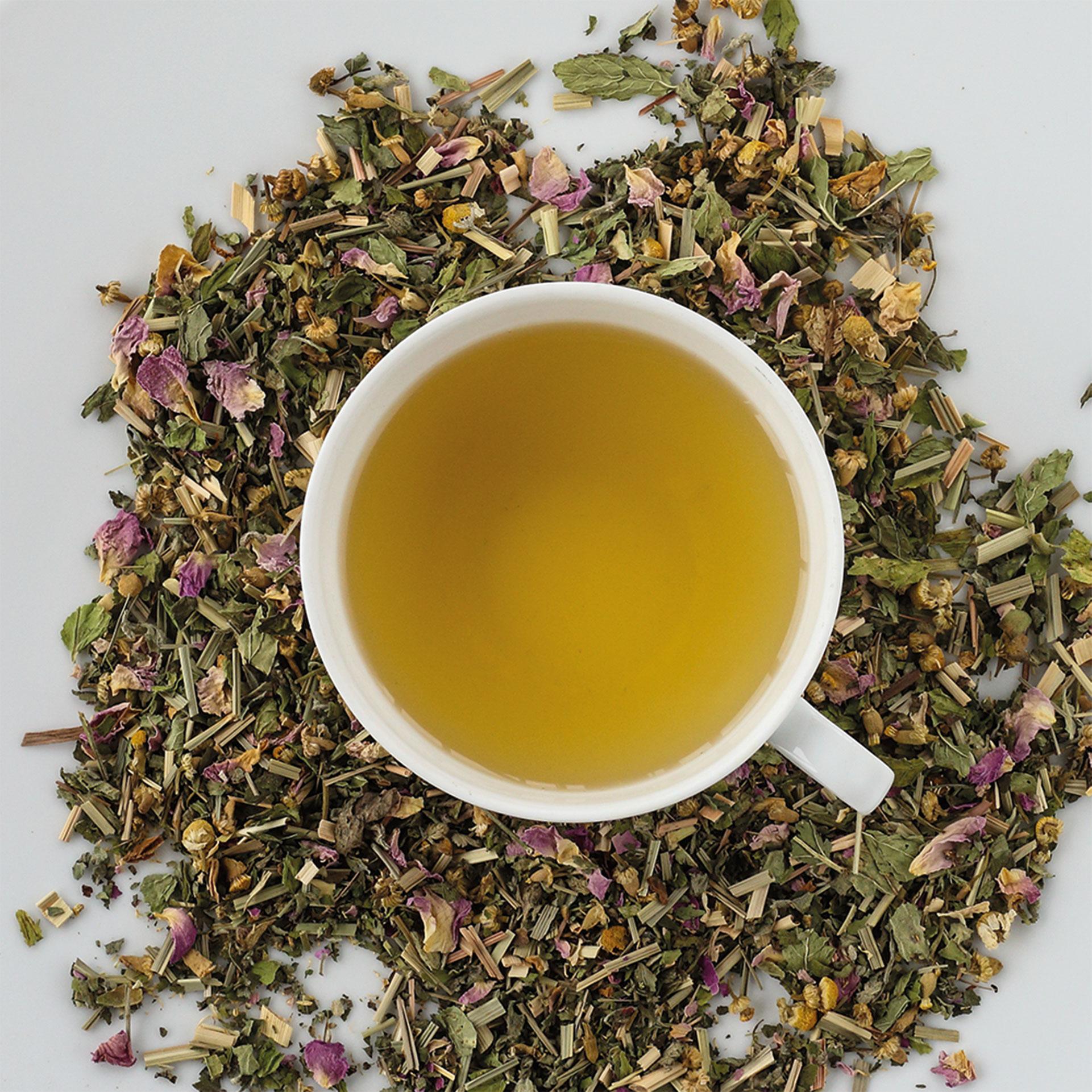 Bio Tee Rose mint summer dream DINZLER Teeselektion