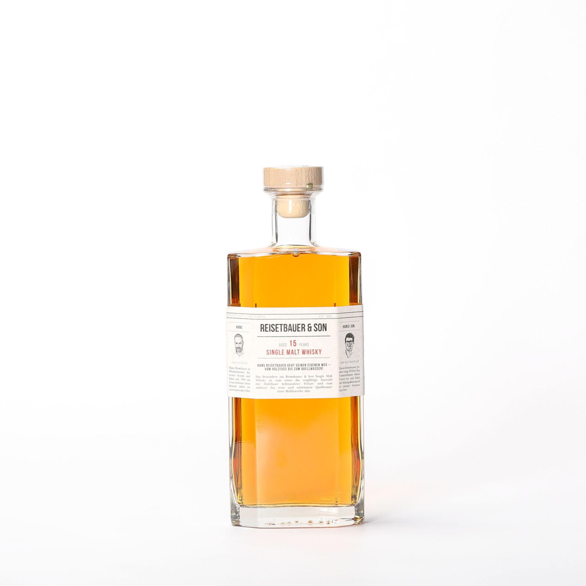 Produktbild Single Malt Whisky 15 years  - Reisetbauer & Son| DINZLER Kaffeerösterei