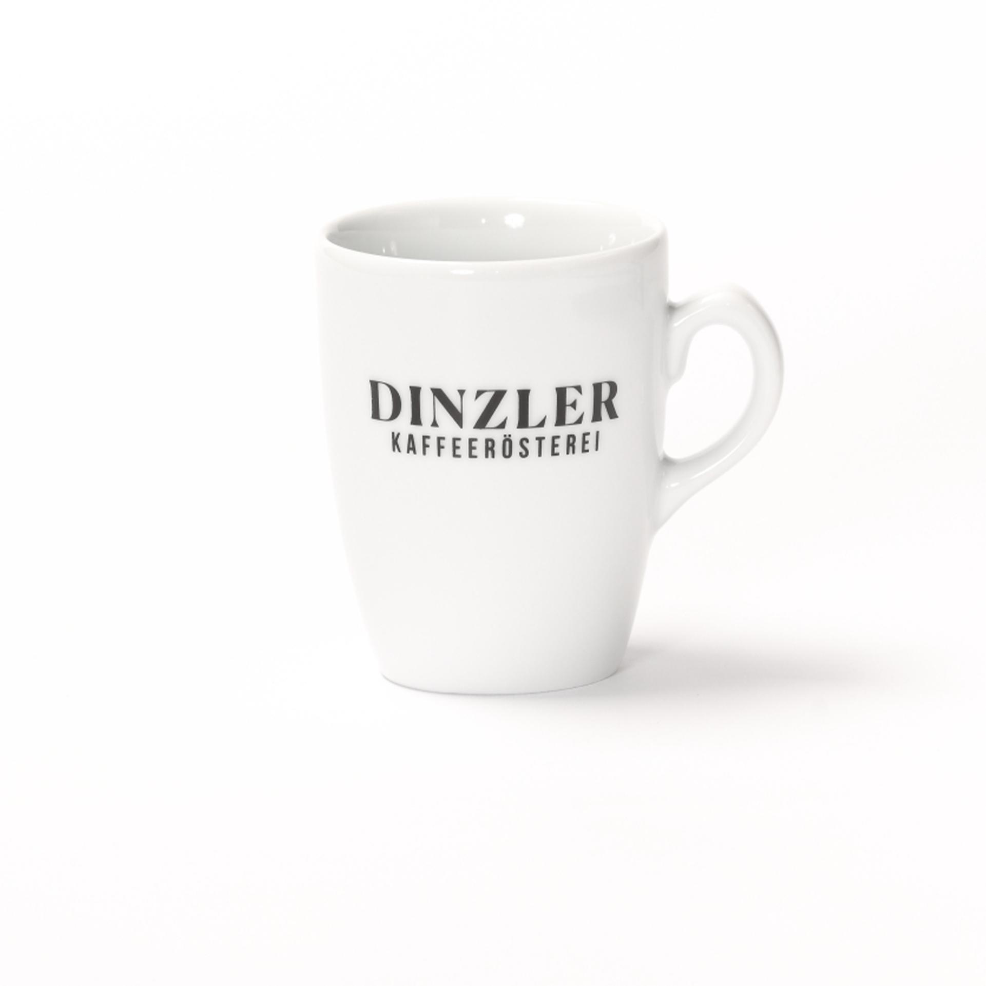 Kaffeetasse mit DINZLER Logo