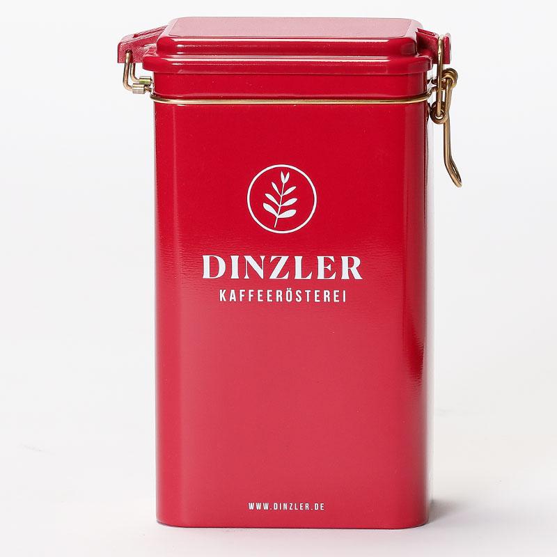 Kaffeedose mit Dinzler Logo