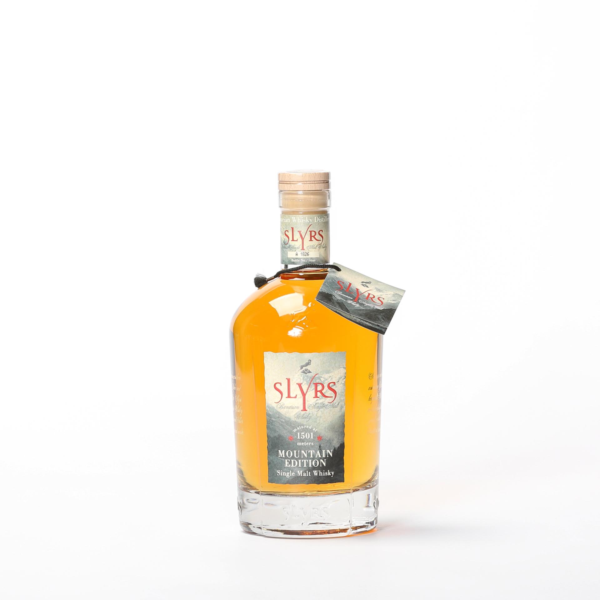 Produktbild Bavarian Single Malt Whisky Mountain Edition - Slyrs Destillerie| DINZLER Kaffeerösterei