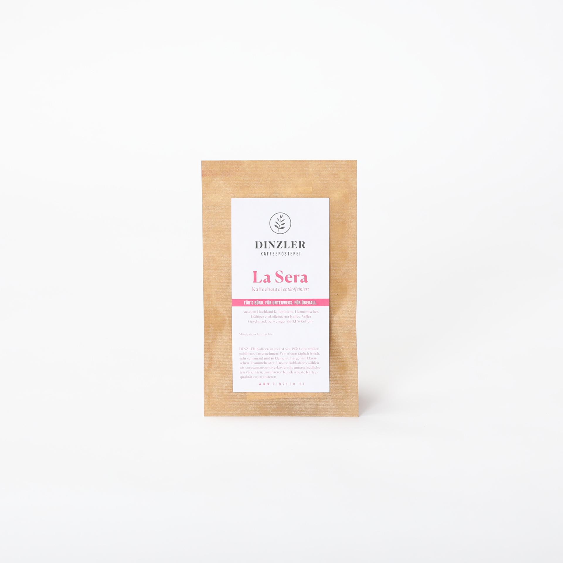 Koffeinfreier Kaffeebeutel für eine Tasse Kaffee