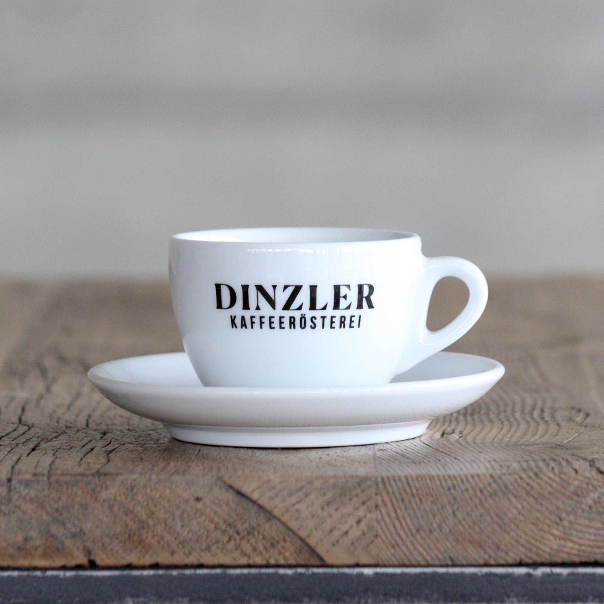 Cappuccino Tasse mit DINZLER Logo