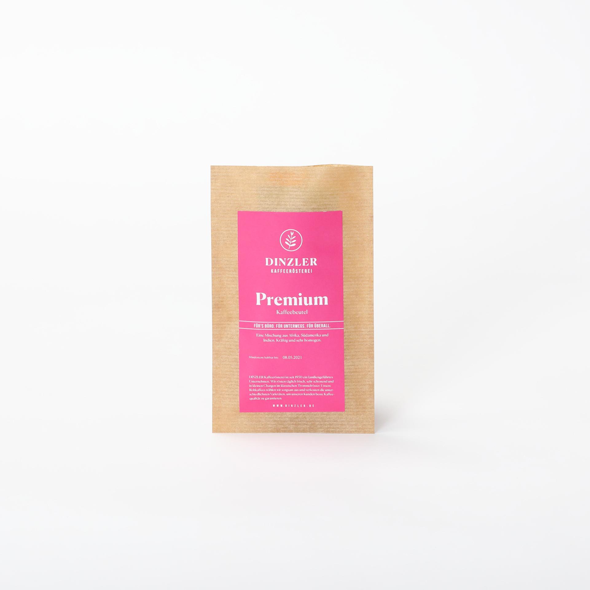 Kaffeebeutel für eine Tasse Kaffee