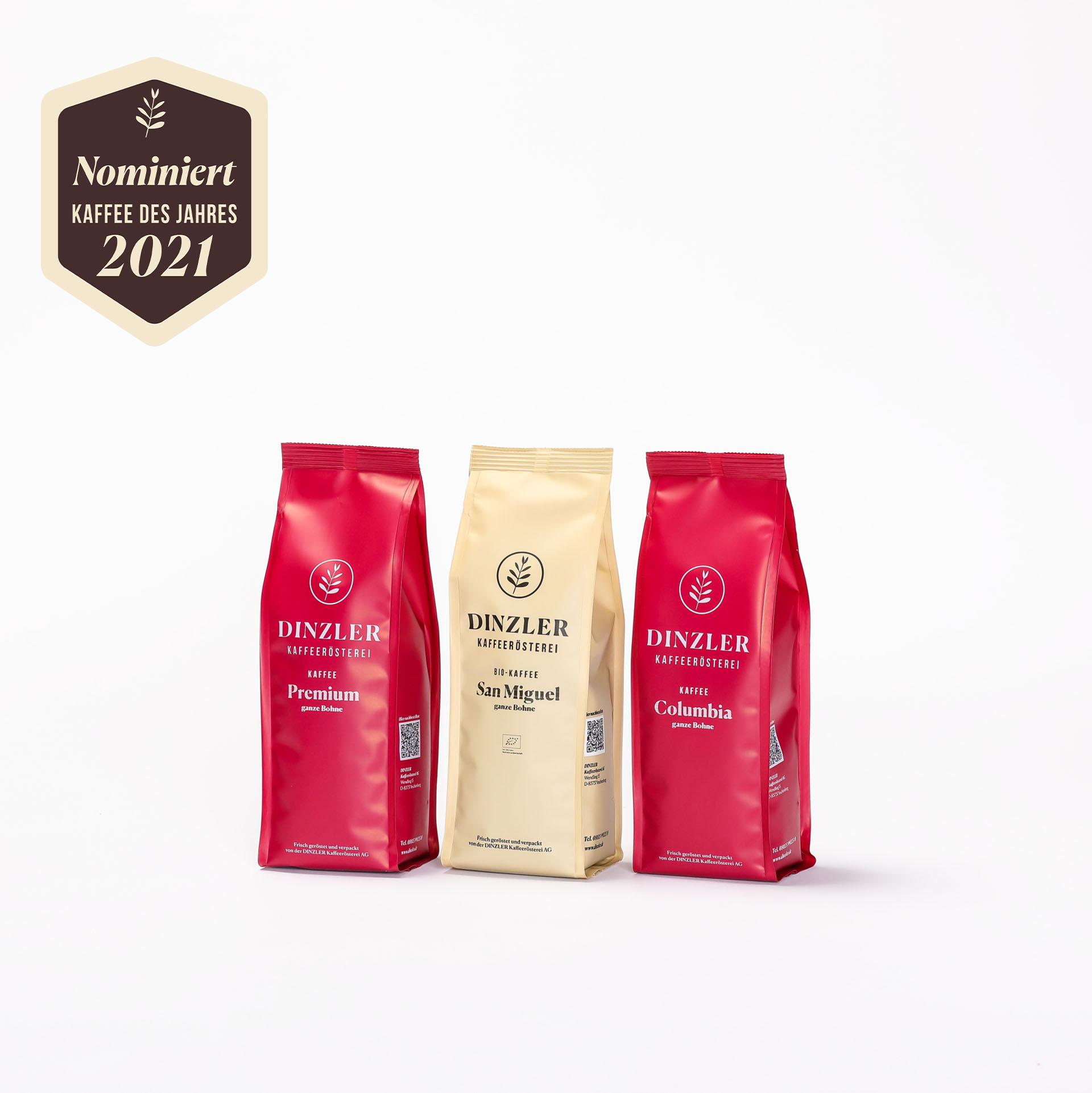 Produktbild Testpaket: DINZLER Kaffee des Jahres 2021| DINZLER Kaffeerösterei